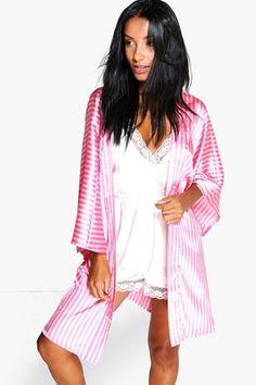 de43e2f1a6955 Madison Candy Stripe Robe Christmas Pajamas, Best Pajamas, Pajamas Women,  Satin Sleepwear,