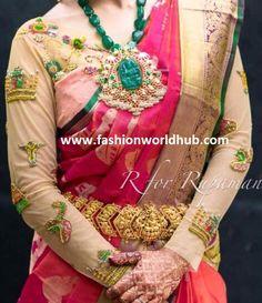 Latest Maggam work blouse designs for Pattu sarees Latest Maggam Work Blouses, Blouse Designs, Sarees, Fashion, Moda, Saris, Fashion Styles, Fashion Illustrations, Fashion Models
