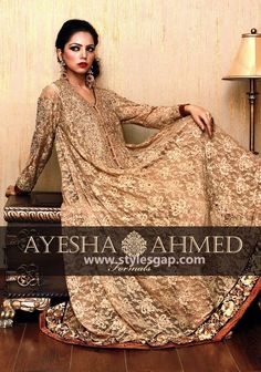 Ayesha Ahmed Formals Party Wear Dresses Designs 2016-2017 Collection (8)