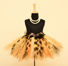 Jungle Safari Tutu Skirt. #babygirls #stylemylo #onlineshopping #tutu #kidsfashion #kids #partywear #designearwear