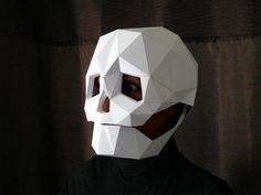 Máscara de calavera  DIY patrón con papel y por TetraVariations