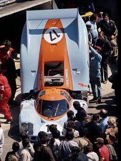 LeMans 1971 917 LH Gulf Wyer . .Derek Bell Jesse Alexander