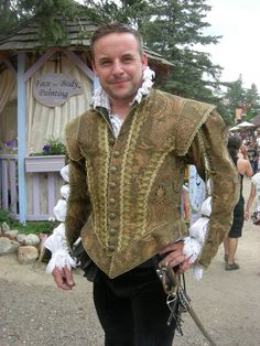Size 44 Olive Green Elizabethan Doublet by NoblesseCostumes, $750.00