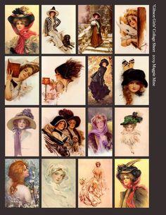Edwardian Women - Gibson Girls Collage
