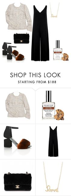 """Jacket 3"" by lailamur on Polyvore featuring мода, Chanel, Demeter Fragrance Library, Alexander Wang, American Vintage и Sydney Evan"