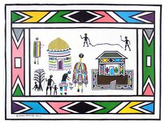 Esther Mahlangu born 11 November 1935 is a South African artist from the Ndebele nation She is known for her bold largescale contemporary paintings that r African Artists, Fabric Design, Vibrant, Kids Rugs, Culture, Artwork, Pictures, African Patterns, Image