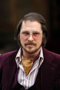 christian bale American Hustle- he is suppose to be gross in this movie....and yet I cant seem to get over his beautiful face! oh its still there...trust me. and this character is a great one! (who cares if hes an asshole in real life)