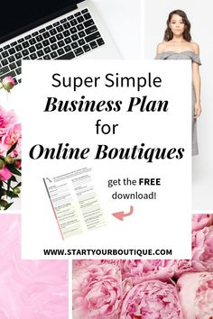 Starting an online boutique? Need a business plan to help you get organized? One Page Business Plan, Simple Business Plan, Starting A Business, Business Tips, Online Business, Mobile Boutique, A Boutique, Business Branding, Business Marketing