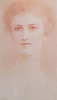 Fernand Khnopff (Belgian Symbolist Painter 1858-1921), Baroness Fernand van der Bruggen Khnopff.