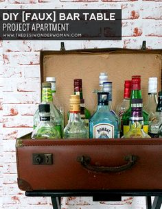 Project Apartment: DIY Faux Bar Table