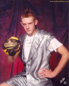 Not just anyone can go bowling while sporting a sweet suit made out of duct tape.