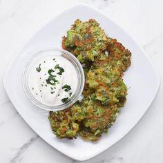 Broccoli Cheddar Fritters Recipe by Tasty