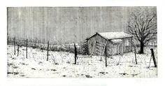 Marta Galisz akwaforta / pejzaż / etching / landscape Scrapbook, Cabin, Journal, Landscape, House Styles, Outdoor, Decor, Art, Outdoors