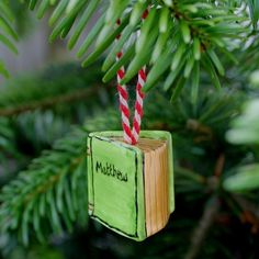 ORDERS FOR 2016 ONLY Personalised book ornament by scattyartist