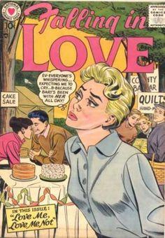 Falling in Love 11 Comic Book 1957 DC Romance Comics Cake Sale Vintage Pop Art, Vintage Romance, Vintage Vibes, Retro Art, Comic Book Covers, Comic Books, Bill Ward, Comics Love, Dc Comics