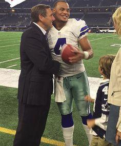 #StateToSundays MSU Coach Dan Mullen with our favorite son, Dak Prescott after Dak's second win as the Dallas Cowboys starting quarterback. #HailState