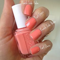 Essie Tart Deco vs Essie Peach Side Babe | Essie Envy | Pinterest ...
