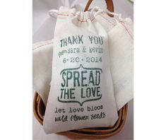Spread The Love Custom Muslin Cloth Bags 3x5 by stampoutonline, $75.00