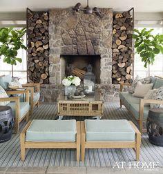 lakehouse fireplace <3