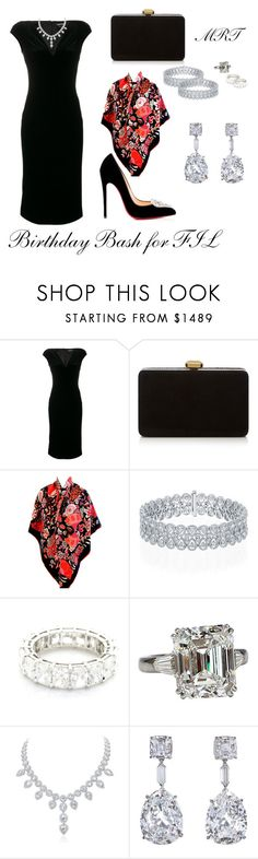 """""""Birthday Bash for FIL"""" by meesh57 ❤ liked on Polyvore featuring Tom Ford, Elie Saab, Hermès, Harry Winston and Christian Louboutin"""