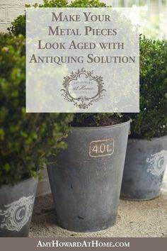Do you love the look of galvanized metal wall art planters counters or tabletops. Galvanized Buckets, Galvanized Metal, Rusty Metal, Metal Walls, Metal Wall Art, Amy Howard Paint, Aging Metal, Metal Projects, Metal Crafts