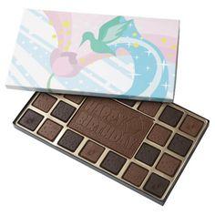 Hummingbird 45 Piece Assorted Chocolate Box #hummingbird #birds #spring #chocolate #flowers