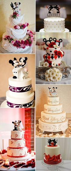 Mickey and Minnie inspired disney themed wedding ideas #Disney