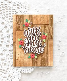 SSS Wood Background | RejoicingCrafts Holiday Cards, Christmas Cards, Red Jewel, Love Stamps, Walnut Stain, Wood Background, Card Making Inspiration, Tiny Flowers, Simon Says Stamp