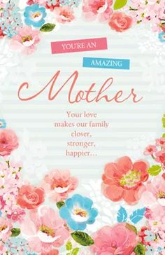 For sister in law mothers day printable cards mothers day my amazing mother mothers day printable cards m4hsunfo