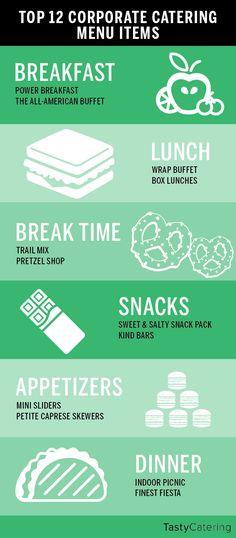 Top 12 Corporate Catering Menu Items