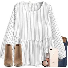 A fashion look from February 2018 featuring Hollister Co. jeans, Dolce Vita ankle booties and Catbird necklaces. Browse and shop related looks.
