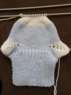 Jolies chaussettes bicolores pour bébé de 3 à 18 mois, aiguilles N°3