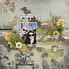 Layout using 7Dots Lost & Found Collection and Creative Embellishments Chippies