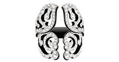 Van Der Bauwede 18K WG Diamond Butterfly Ring 00675
