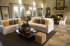 Spacious luxury home living room.