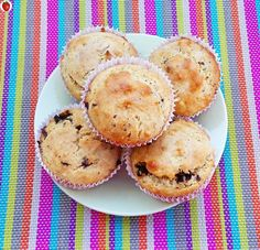 Peanut Butter Banana And Chocolate Chip Muffins - MyHealthyDessert