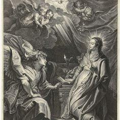 Annunciatie, Schelte Adamsz. Bolswert, after Peter Paul Rubens, 1596 - 1659 - Rijksmuseum
