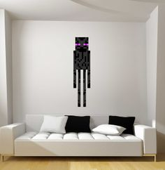 Minecraft Enderman Fathead-Style Repositionable Graphic Decal Sticker on Etsy, $39.95