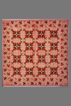 Quilt, Pineapple pattern, ca. 1865 #vintagequilts
