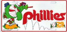 Phillie Phanatic license plate stadium giveaway from 1984