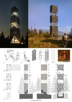 The results of the competition Lookout Tower Kvetnica Wood Architecture, Sustainable Architecture, Architecture Details, African House, Lookout Tower, Tower House, Water Tower, Loire, Facade