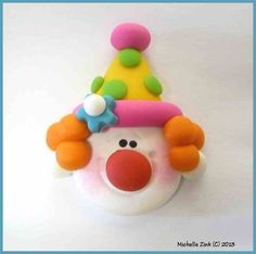Polymer Clay Bead or Bow Center Clown by michellesclaybeads, $3.00