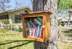 Although the number of guys visiting libraries has plummeted in recent years thanks to the availability of hot librarian pics on the Internet, a new public art project aims to bring back book-lending's wholesome, community-building roots. Little Free Library facilitates paperback-based neighborly bonding by encouraging people to post a wooden box in a public space, fill it with books, then invite other ordinary citizensto take one book and replace it with another.