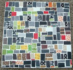 Fabric Mosaic: use shades of one color family, or all warm/all cool colors, and make 4 to hang in a square close together