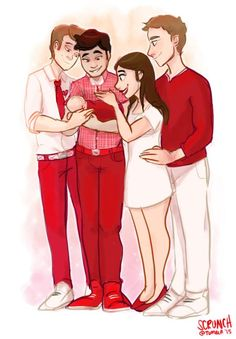 Happy ending, happy family. (Art by scrunch on Tumblr