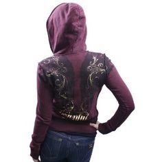 SINFUL by Affliction Whisping Wing Zip Up Womens Hoodie (Apparel)  http://healthpeoplecenter.com/like/B007BGZXU8/