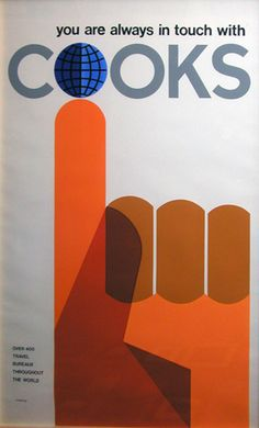 Cooks Tours poster by Tom Eckersley 1960's