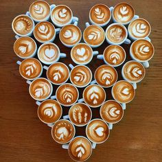 The Most Satisfying Cappuccino Latte Art - Coffee Brilliant Coffee Latte Art, Coffee Is Life, I Love Coffee, Coffee Break, My Coffee, Coffee Drinks, Coffee Shop, Coffee Cups, Coffee Lovers