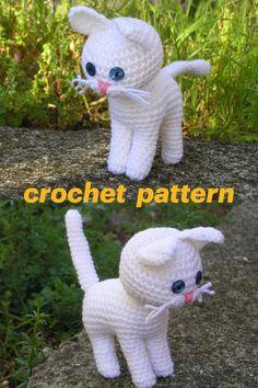 #crochetcat #crochetkitty #whitekitty #kittypattern #catpattern #crochetpattern #catamigurumi #amigurumikitty #amigurumipattern #pletionica #meow Cat Amigurumi, Crochet Patterns Amigurumi, Handmade Market, Little Boy And Girl, Cat Pattern, Online Gifts, Inspirational Gifts, Stuffed Toys Patterns, Yarn Crafts