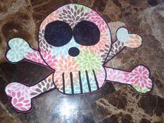 handmade skull scrapbooking embellishment